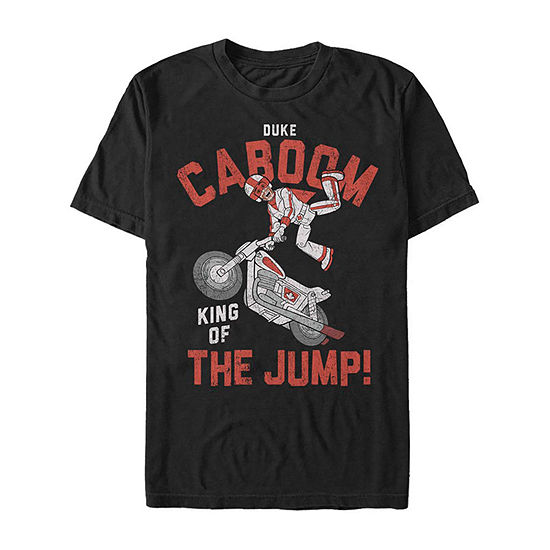 Duke Caboom King Of The Jump Mens Crew Neck Short Sleeve Toy Story Graphic T-Shirt-Slim