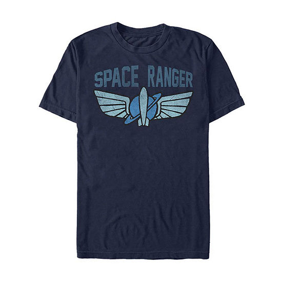 Slim Space Ranger Logo Costume Mens Crew Neck Short Sleeve Toy Story Graphic T-Shirt