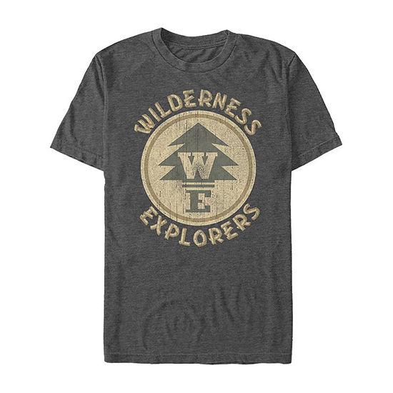 Up Wilderness Explorers Logo Mens Crew Neck Short Sleeve Graphic T-Shirt