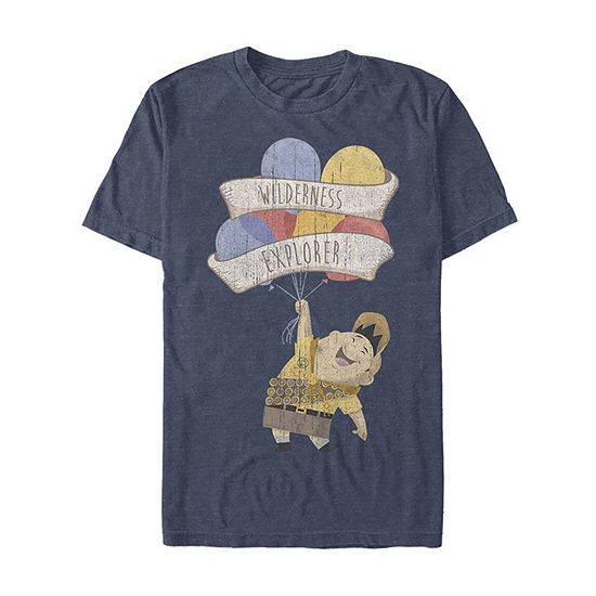 Slim Up Russell Wilderness Explorer Mens Crew Neck Short Sleeve Graphic T-Shirt
