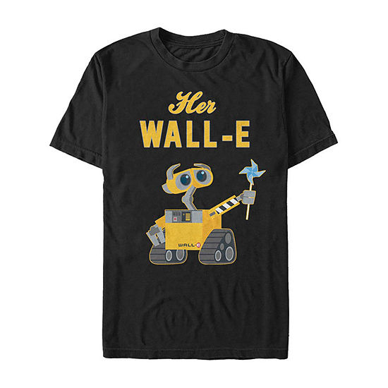 Slim Wall-E Her Favorite Robot Mens Crew Neck Short Sleeve Graphic T-Shirt