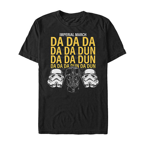 Imperial March Music Mens Crew Neck Short Sleeve Star Wars Graphic T-Shirt
