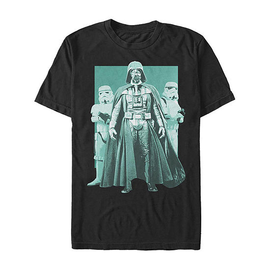 Darth Vader Stormtroopers Portrait Mens Crew Neck Short Sleeve Star Wars Graphic T-Shirt