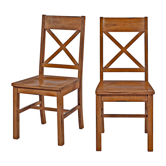 Jcpenney Dining Chairs: 2-pc. Antique Brown Wood Dining Kitchen Chairs-JCPenney