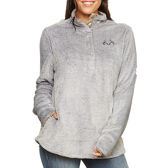 Realtree Womens High Neck Long Sleeve Sweatshirt