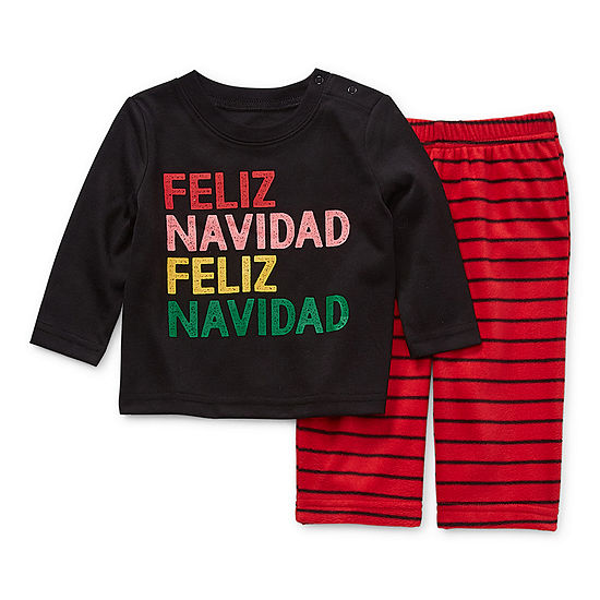 North Pole Trading Co. Feliz Navidad Baby Unisex Christmas Pajama Set  2-pc.