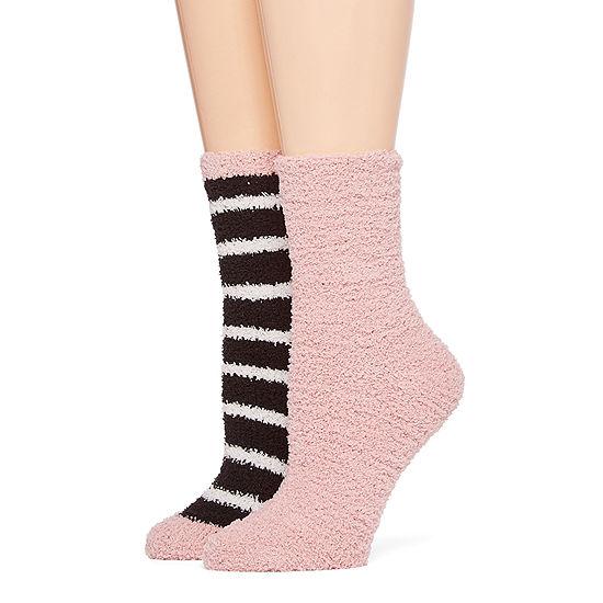 Mixit 2 Pair Slipper Socks Womens