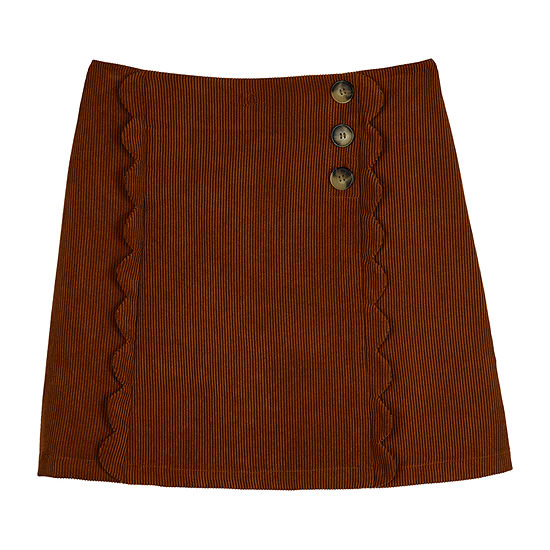 by&by Corduroy Big Girls A-Line Skirt