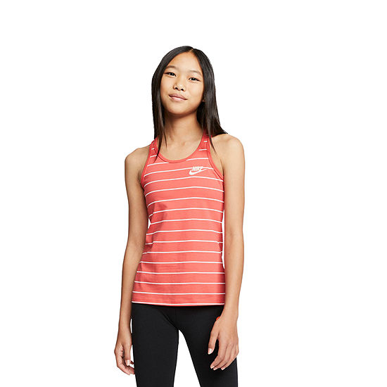 Nike Big Girls Round Neck Sleeveless T-Shirt