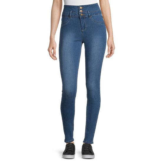 Ymi - Juniors Womens High Rise Skinny Fit Jean