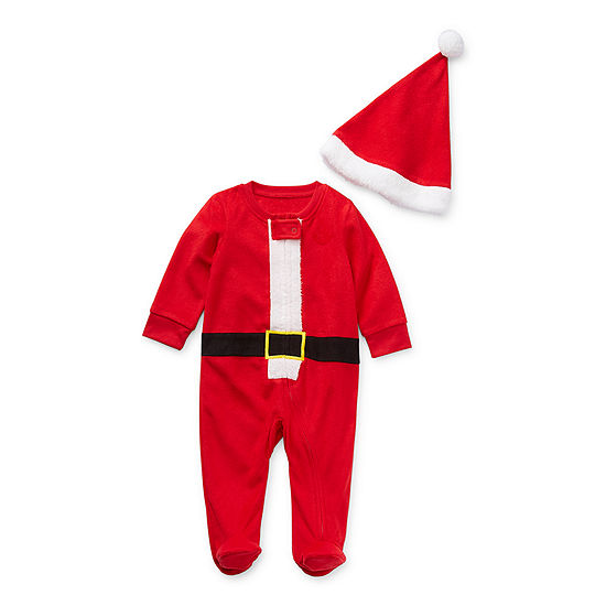 North Pole Trading Co. Santa Baby Unisex Knit Long Sleeve One Piece Pajama