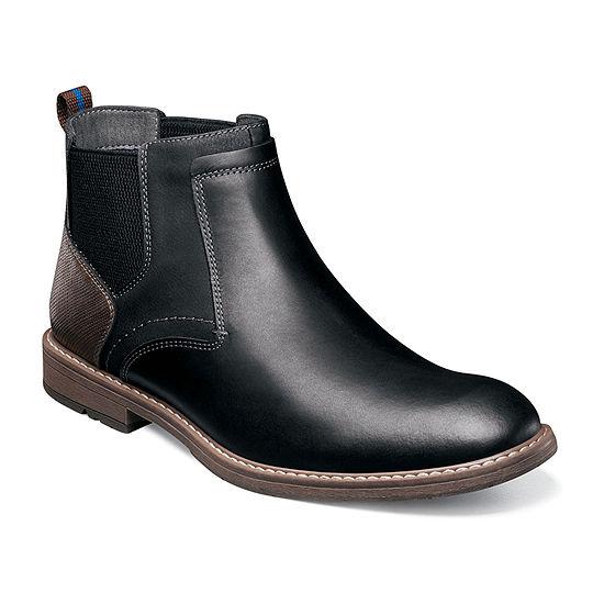 Nunn Bush Mens Fuse Chelsea Boots Flat Heel