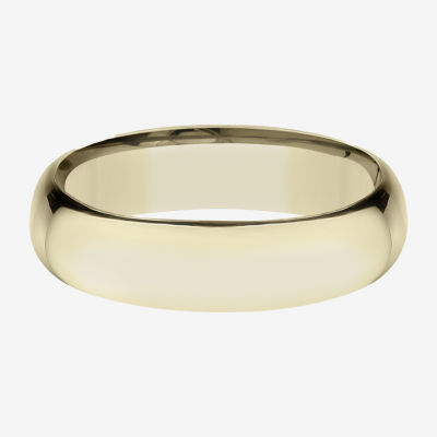 Mens 14K Yellow Gold 6MM Light Comfort-Fit Wedding Band