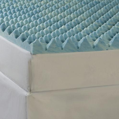 "Comforpedic from Beautyrest® Big Wave 3"" Gel Memory Foam Mattress Topper"