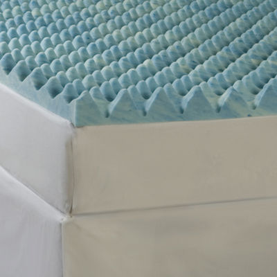 "Comforpedic from Beautyrest® Big Wave 4"" Gel Memory Foam Mattress Topper"