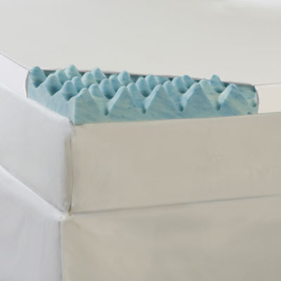 "Comforpedic from Beautyrest® Big Wave 4"" Gel Memory Foam Mattress Topper with Cover"