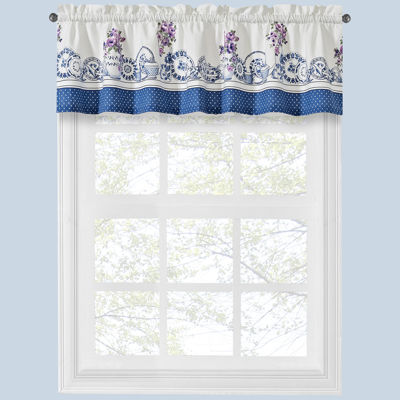 Afternoon Tea Rod-Pocket Tailored Valance