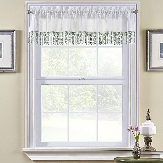 Bristol Tailored Rod-Pocket Kitchen Valance
