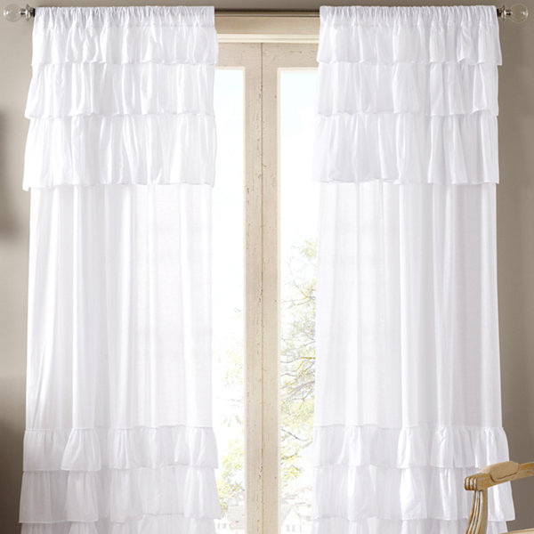 Madison Park Joycelyn Rod-Pocket Cotton Curtain Panel
