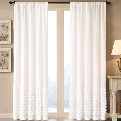 Madison Park Kylie Rod-Pocket Cotton Curtain Panel