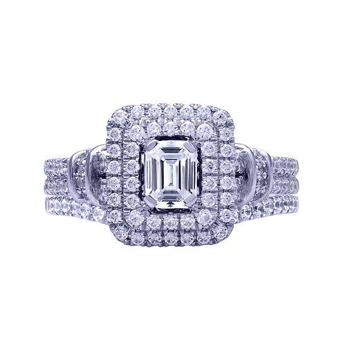 Modern Bride® Signature 1¼ CT. T.W. Certified Diamond 14K White Gold Bridal Ring Set
