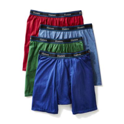 Hanes Men's ComfortBlend® FreshIQ™ ComfortFlex® Waistband Boxer Brief 4-Pack