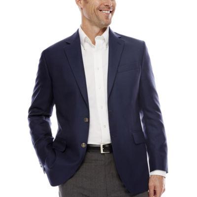 Stafford® Executive Blue Hopsack Blazer - Classic