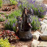 Navarro Boy and Girl Outdoor Water Fountain