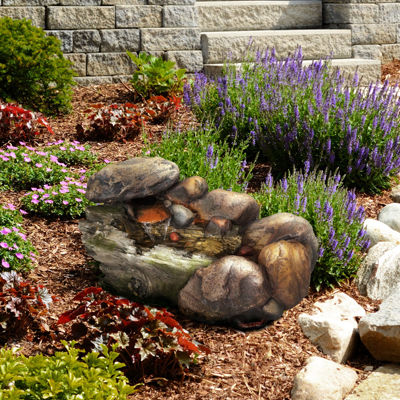 Navarro Cascading Stone Outdoor Fountain