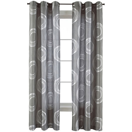 JCPenney Home Focus Light-Filtering Grommet-Top Single Curtain Panel, One Size , Purple