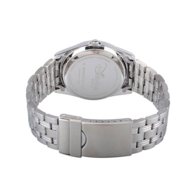 Disney Beauty and the Beast Womens Silver Tone Bracelet Watch-Wds000314