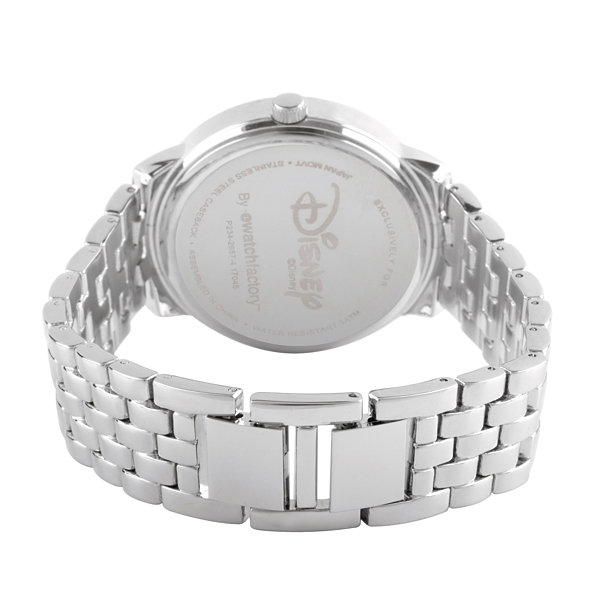 Disney Beauty and the Beast Womens Silver Tone Bracelet Watch-Wds000317