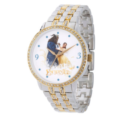 Disney Beauty and the Beast Womens Silver Tone Bracelet Watch-Wds000318
