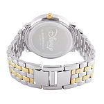 Disney Collection Beauty and the Beast Womens Silver Tone Bracelet Watch-Wds000318