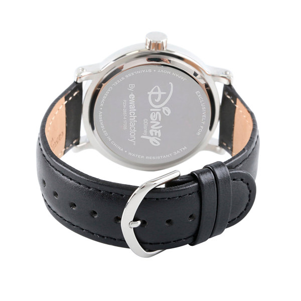 Disney Mickey Mouse Mens Black Strap Watch-Wds000335