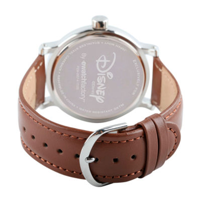 Disney Mickey and Friends Mens Brown Strap Watch-Wds000340