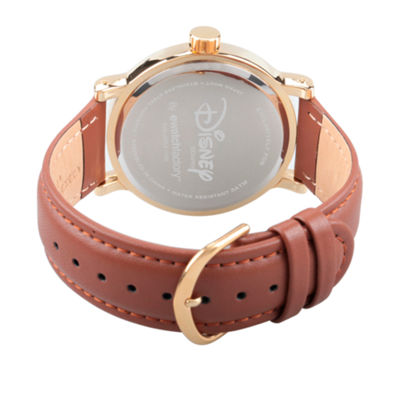 Disney Snow White Mens Brown Strap Watch-Wds000341