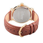 Disney Snow White Mens Brown Leather Strap Watch-Wds000342