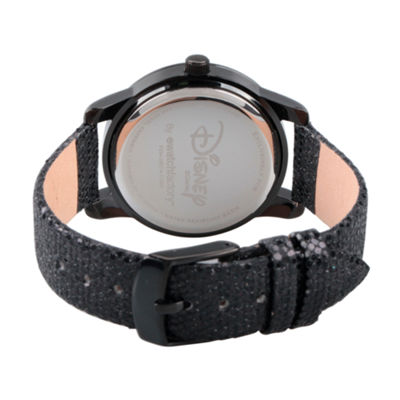 Disney Mickey and Friends Womens Black Strap Watch-Wds000351