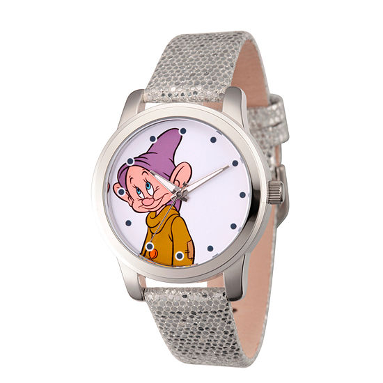 Disney Snow White Womens Gray Strap Watch-Wds000352