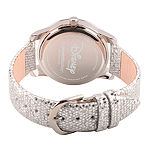Disney Snow White Womens Gray Leather Strap Watch-Wds000352