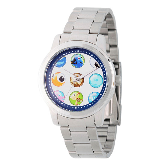 Disney Finding Nemo Womens Silver Tone Stainless Steel Bracelet Watch - Wds000354