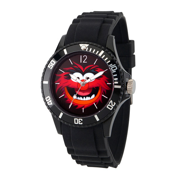 Disney The Muppets Mens Black Strap Watch-Wds000361