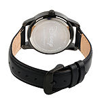 Disney Collection Pirates of the Carribean Mens Black Leather Strap Watch-Wds000376