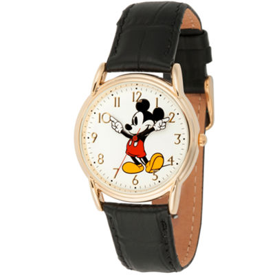 Disney Mickey Mouse Mens Black Strap Watch-Wds000404