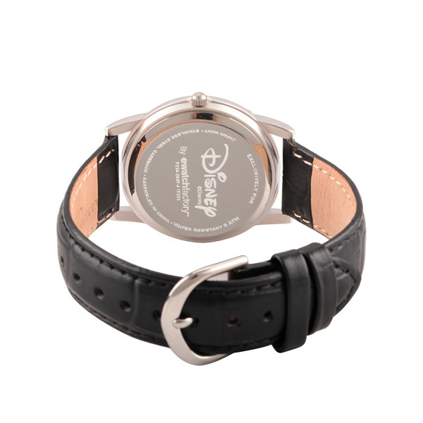 Disney Minnie Mouse Womens Black Strap Watch-Wds000408