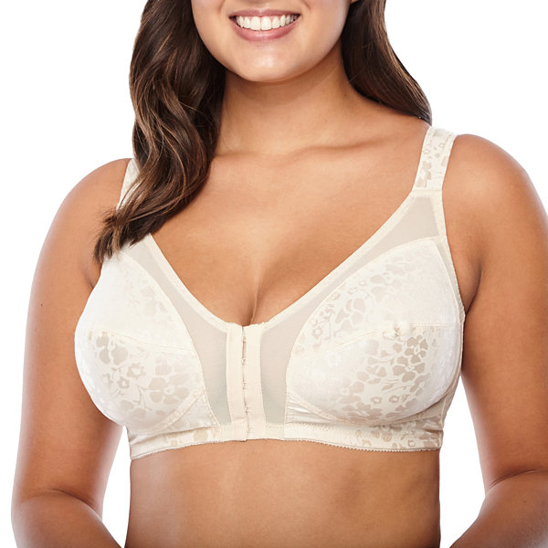 Cortland Intimates Front Hook Printed Soft Cup Wireless Full Coverage Bra-7251