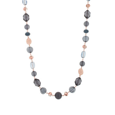 Mixit Womens Round Strand Necklace