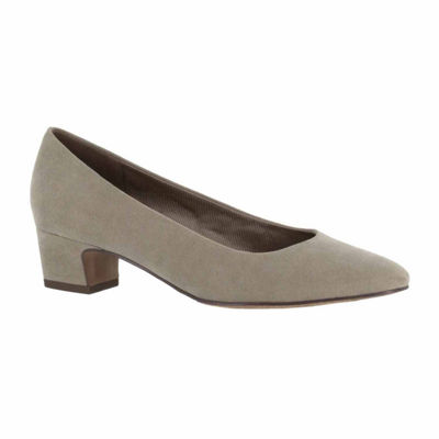 Easy Street Womens Prim Pumps Slip-on Round Toe Block Heel