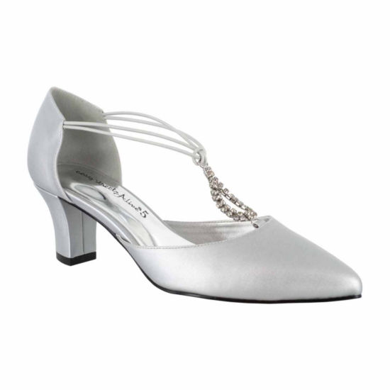 Easy Street Womens Moonlight Pumps Slip-on Pointed Toe Cone Heel